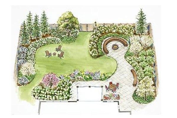 Free Designs & Ideas – Beautiful Long Beach Lawn To Garden